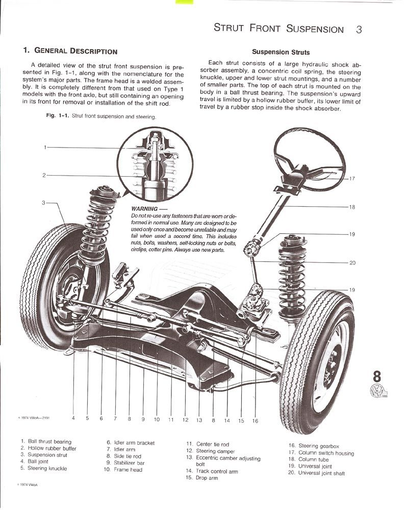 classic mini front suspension diagram 2 switch 1 light wiring exploded view of a super beetle end and steering   vee dub ya pinterest ...
