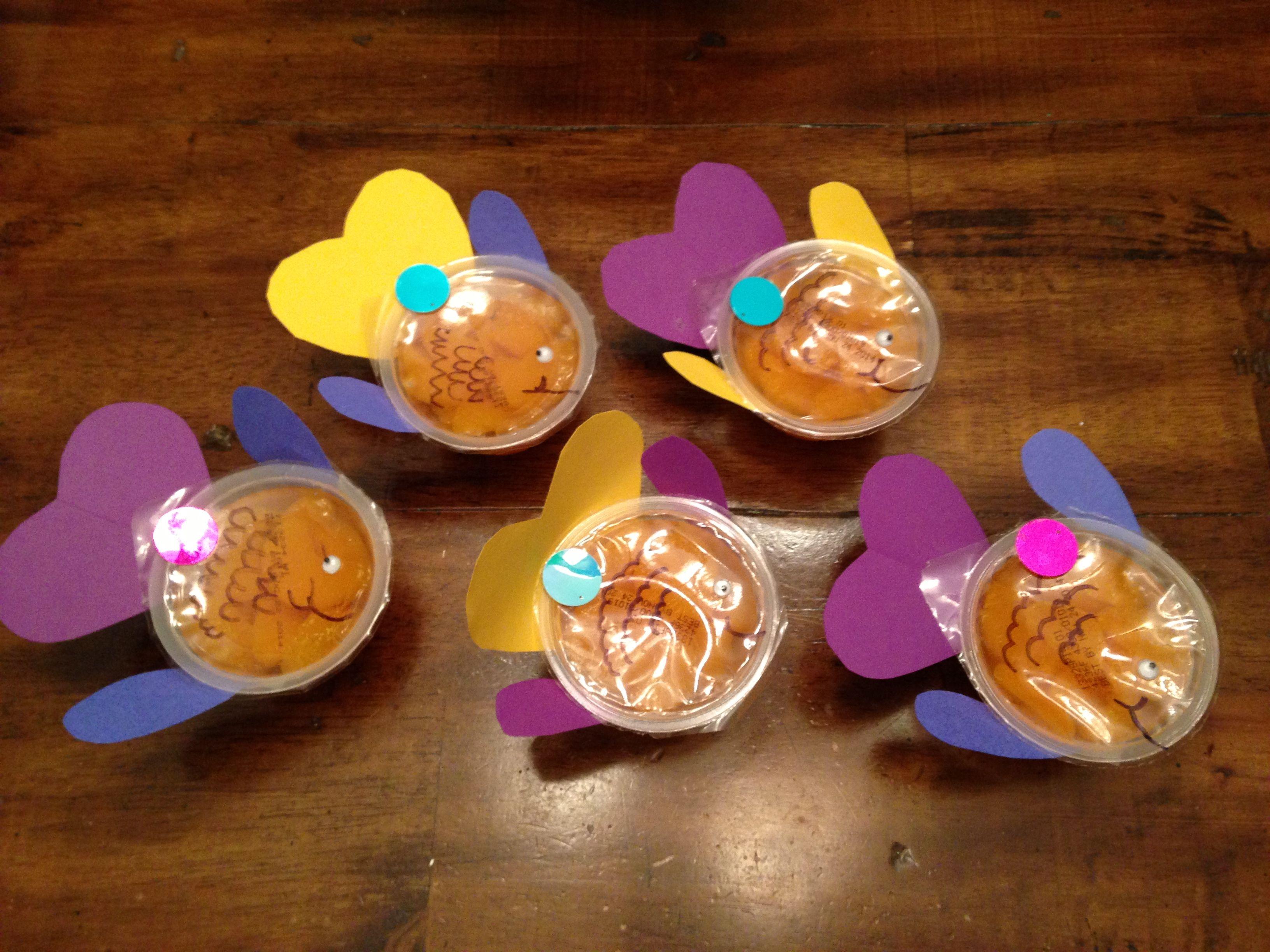 Preschool Snack Rainbow Fish Fruit Cups