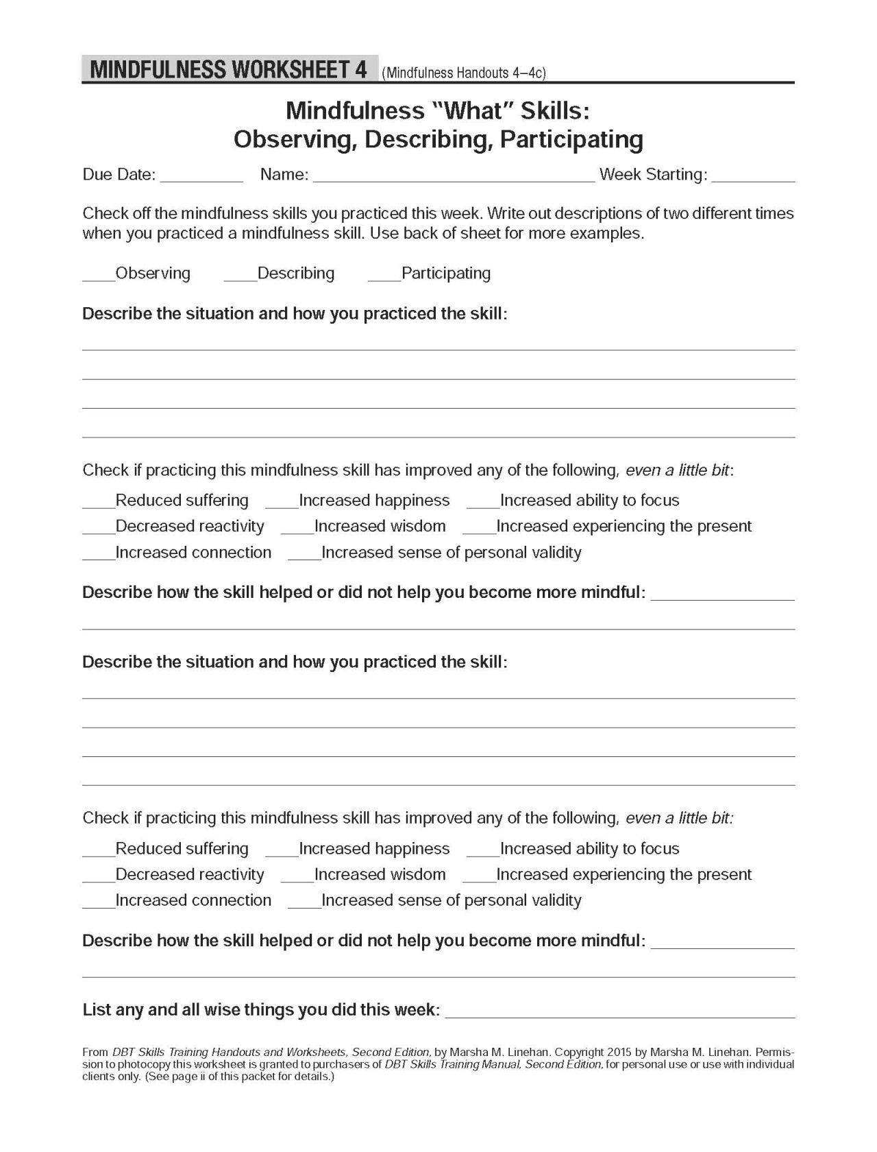 Dbt Crisis Worksheet