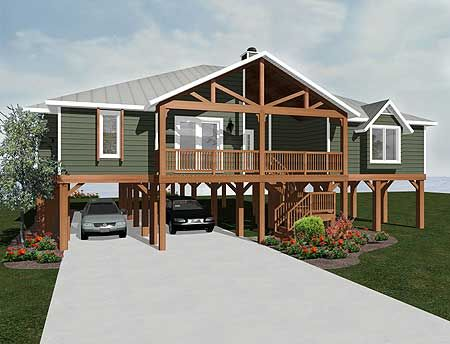 Plan 3481VL Elevated Living House Plans Beaches And House
