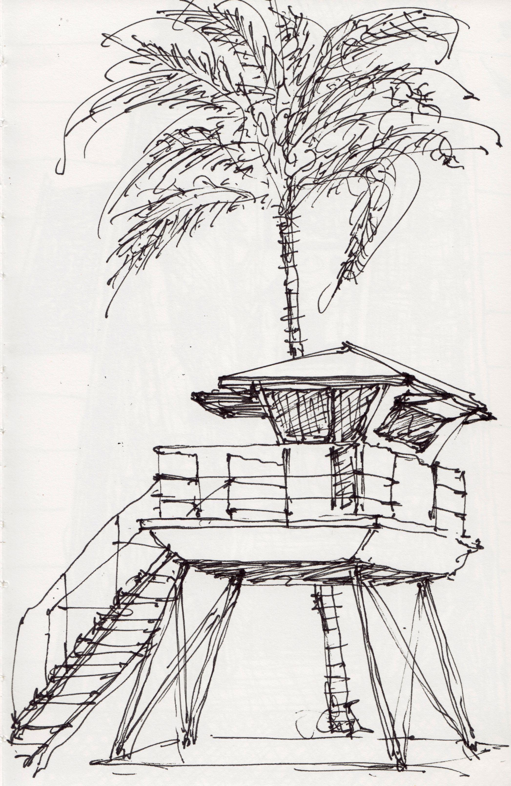 Lifeguard Tower In H Ei Hawaii