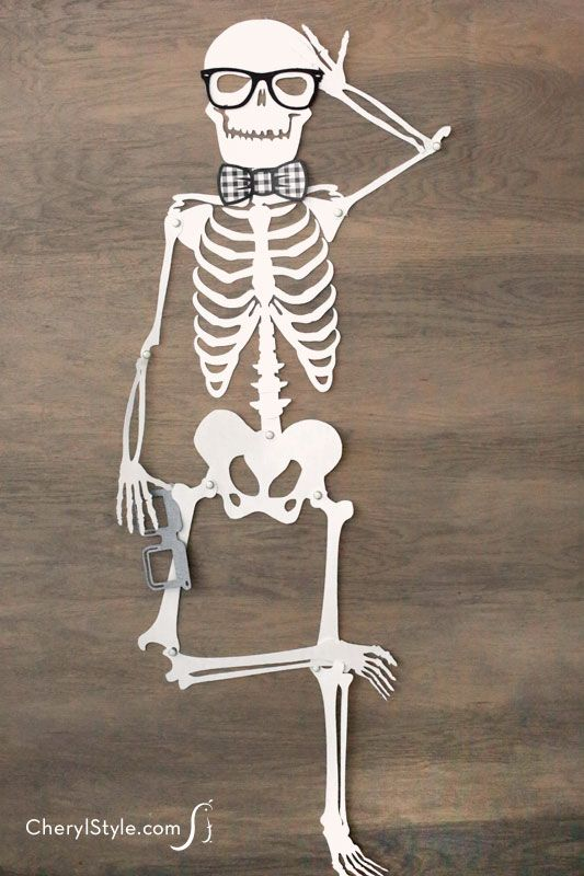 Printable skeleton instructions