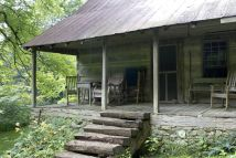 Mountain Log Cabin Porches