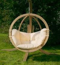 wooden outdoor swings