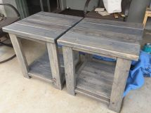 2x4 End Tables Scrap Left Over Pieces. Boards