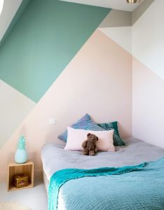 Wall paint design for kids room also love this pinterest bedrooms rooms rh