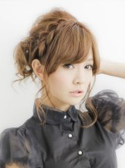 japanese cute braided hairstyle