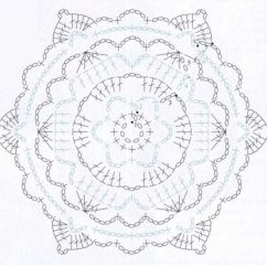 Diagram Crochet Coaster Circuit Maker Motif For Cross Over Lace Top And Knit