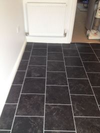 Polyflor Colonia Imperial Black Marble with an Ice Grout