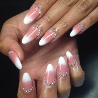 Coral and white ombre nails | Hair and beauty | Pinterest ...