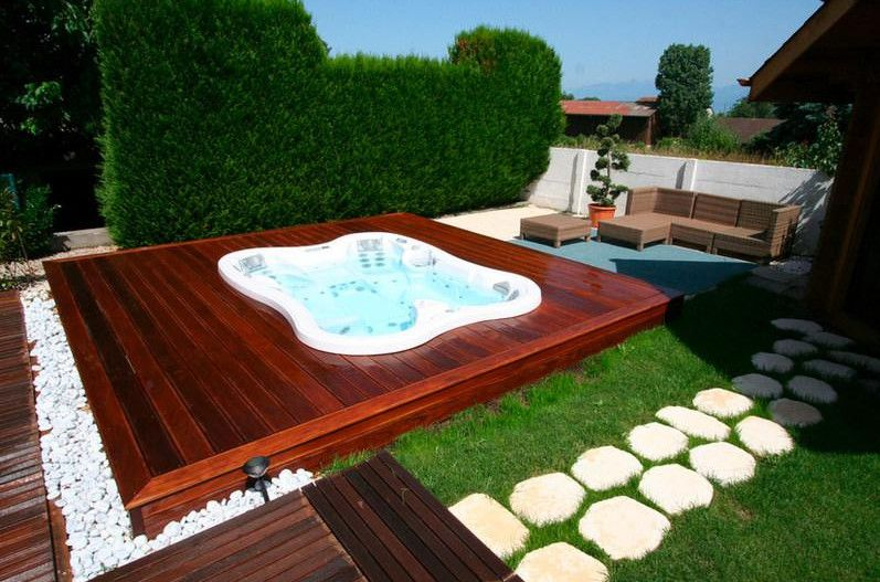Outdoor Spa Landscaping Ideas Hot Tubs & Jacuzzis Pinterest
