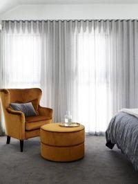 Ripplefold curtains in sheer grey fabric   Home ...