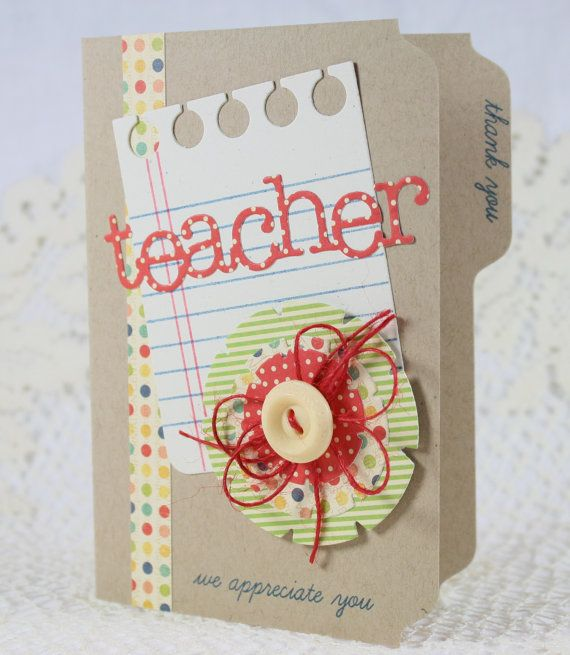 Handmade Greeting Card Teacher Appreciation Handmade