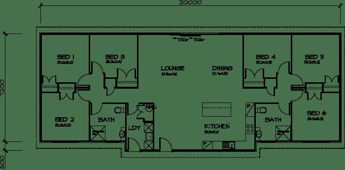 PLB153 Six Bedroom Transportable Homes House Plan