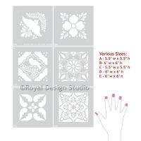 Talavera Tiles Wall & Furniture Stencils | Tile patterns ...