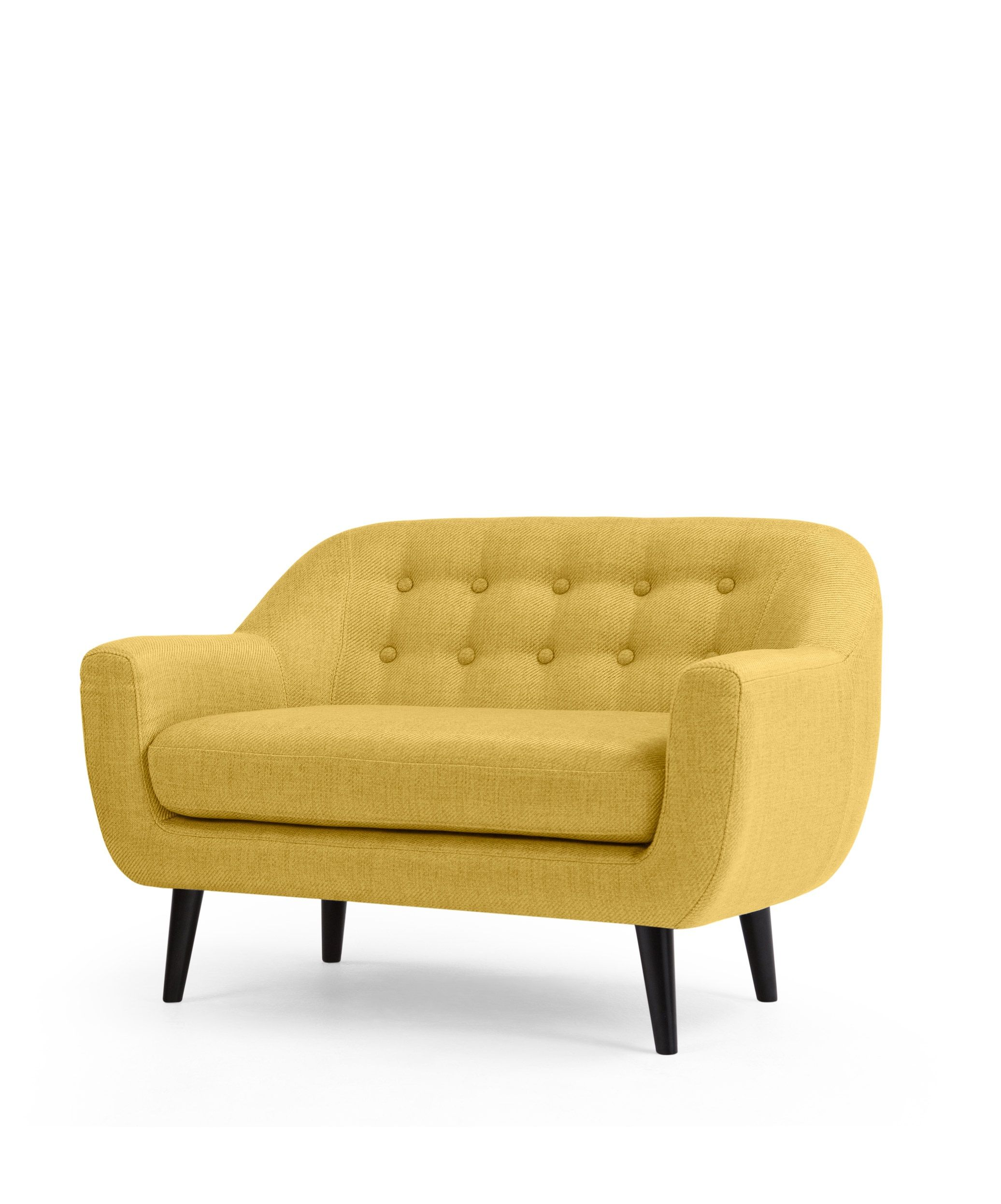 small 2 seater sofa french country ideas mini ritchie ochre yellow living rooms