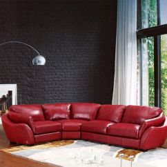 Leather Sofa Furniture Stores Nyc Designs For Small Living Room 622ang Modern Red Italian Sectional