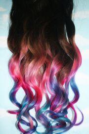 pastel tie dye tip extensions