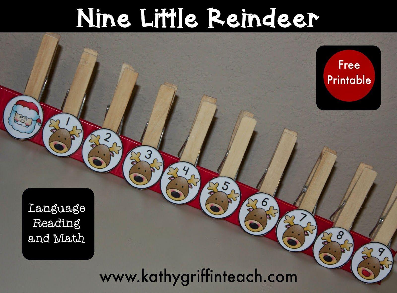 Christmas Reindeer Poem And Fine Motor Activity For Preschool And Kindergarten