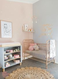 TOUR A SWEET PEACH + GREY NURSERY FOR TWINS -> 22crowns ...