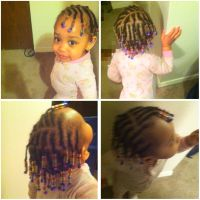 Braids with beads! Babies/kids hairstyle | Natural hair ...