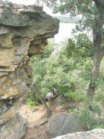 Rock Climb Lake Mineral Wells State Park Texas-100