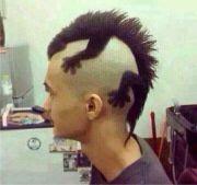 punk hairstyles men lizard