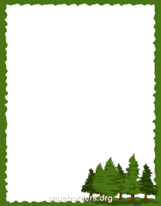 Free pine tree border templates including printable paper and clip art versions file formats include pdf also use the in microsoft word or rh pinterest