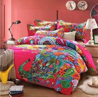 FADFAY Home Textile,Peacock Print Bedding Set,Peacock ...