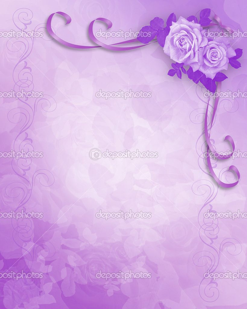 Wedding Invitation Purple Background Wedding Invitation