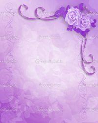 Wedding Invitation Purple Background Wedding Invitation