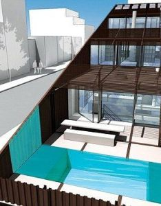 look inside cross section of the interior shows three levels and pool seacontainerhomes container home designs pinterest also rh