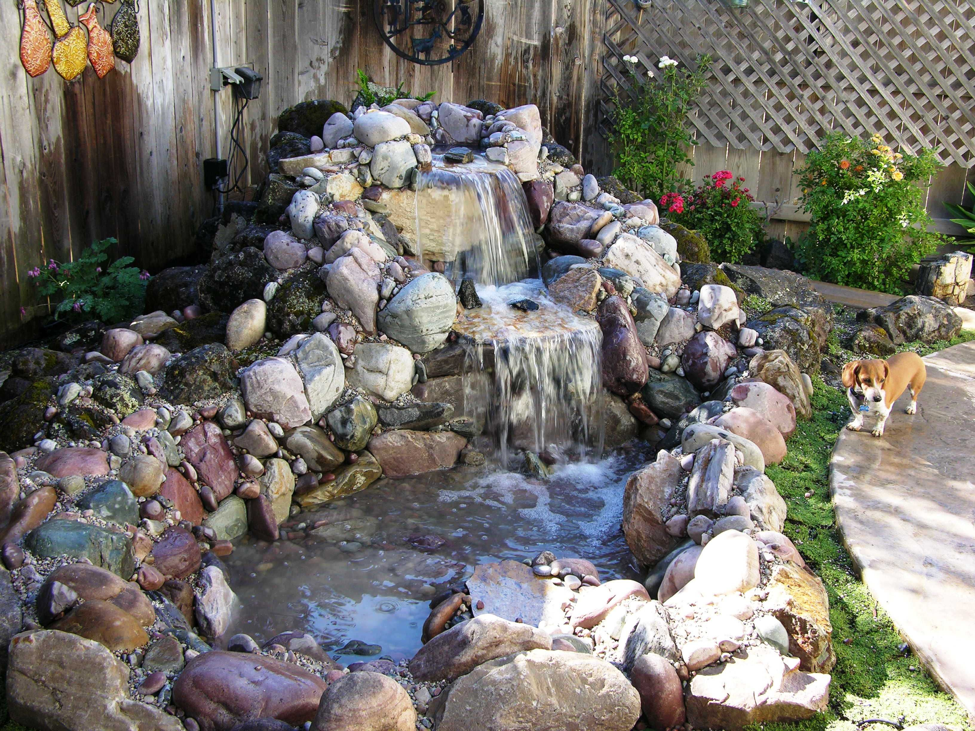 Small Backyard Ponds And Waterfalls Small Indoor Ponds Large