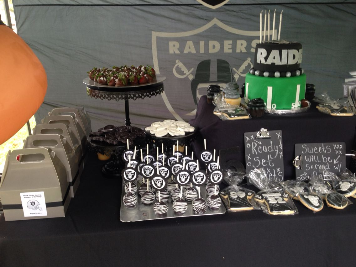 Oakland Raiders Dessert Table