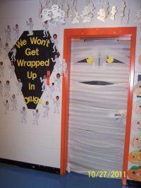 Mummy Door-Kindergarten | Halloween | Pinterest ...