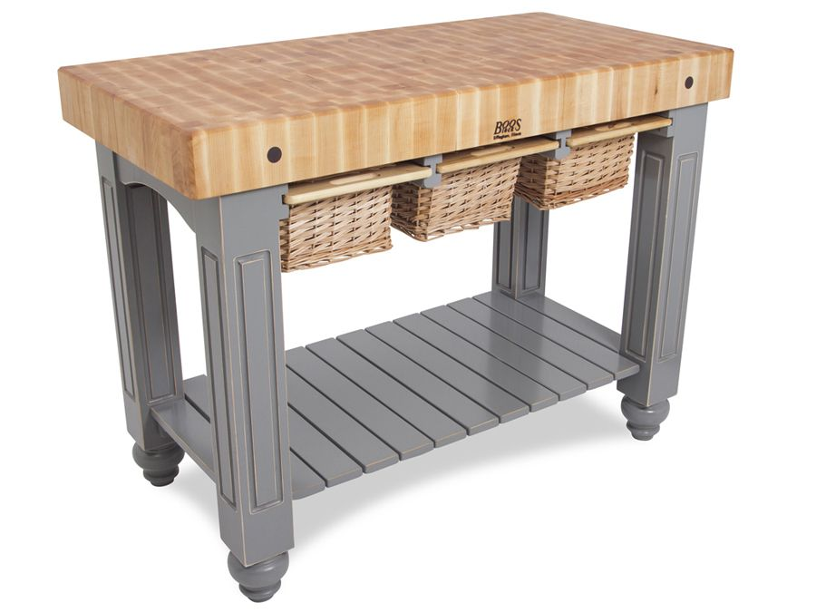 Boos Gathering Block Iii  48x24 Butcher Block Table, 3