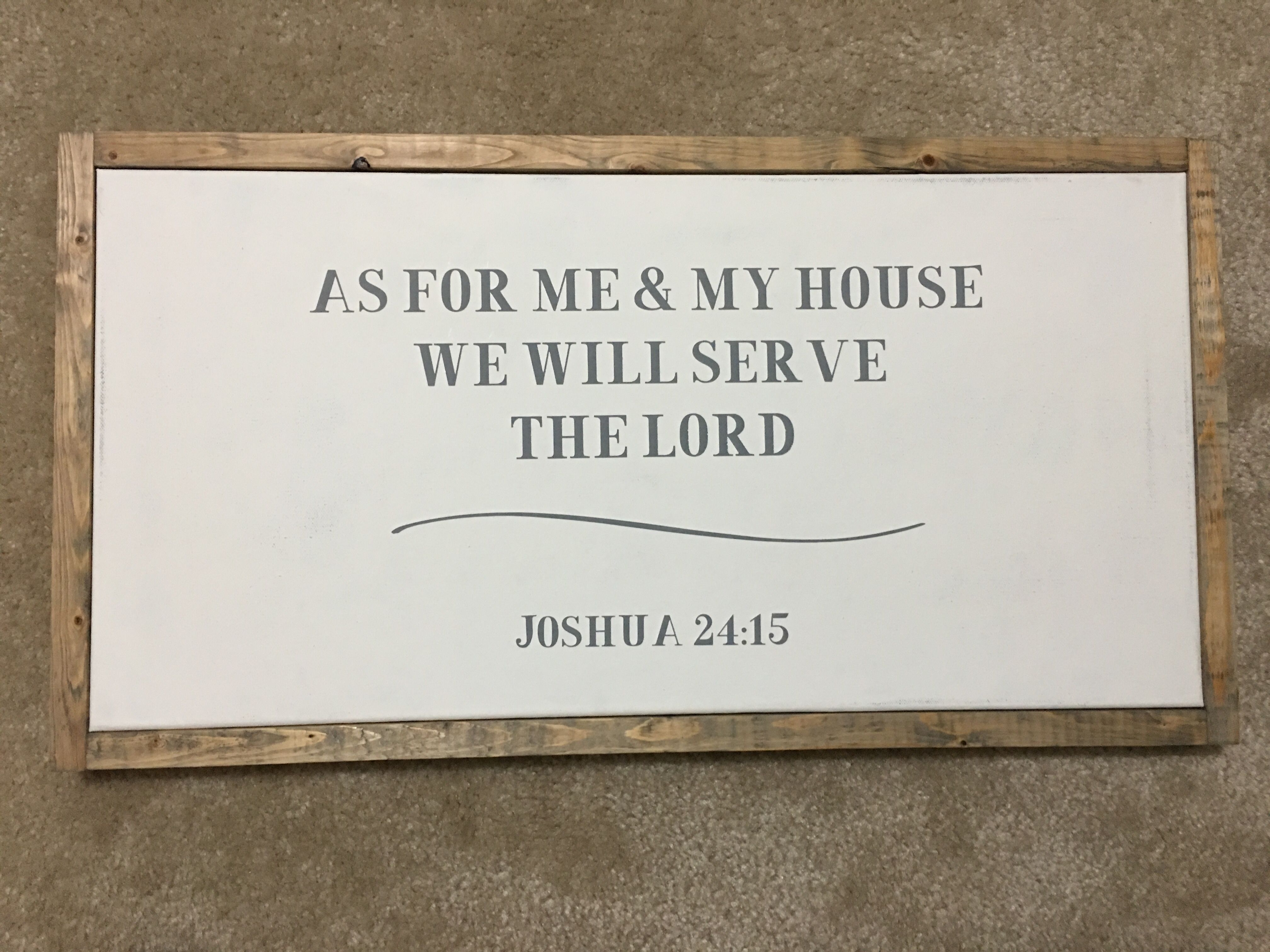 As for me and my house we will serve the lord farmhouse style wall decor also rh uk pinterest