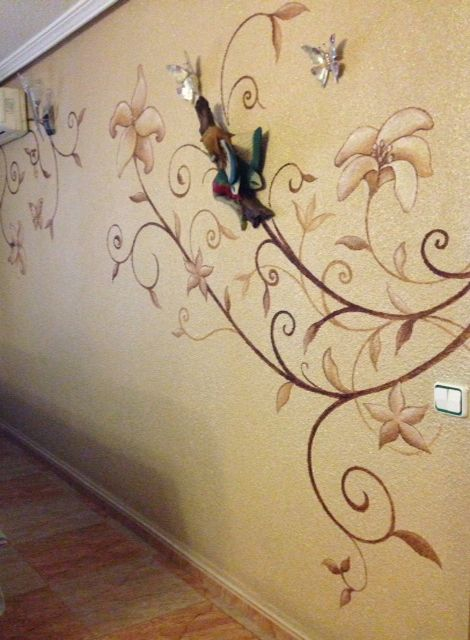 pintura de pared para decorar  Ideas para el hogar