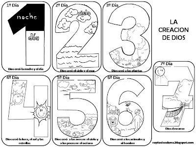 La creación de Dios. Dibujos para colorear ~ Rayito de