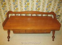 Ethan Allen Baumritter Coffee Table Bench Colonial ...