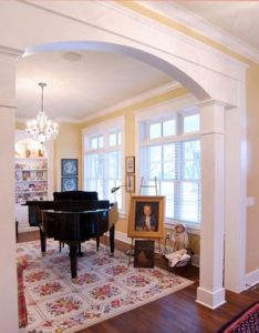 Elegant country charm traditional entry cincinnati weaver custom homes bm santo domingo cream also arched window in kitchen design pictures remodel decor and ideas rh pinterest