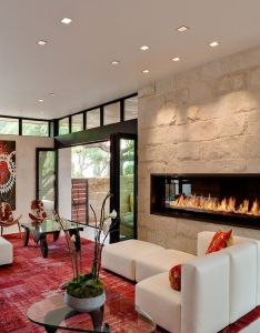 Caruth boulevard residence by tom reisenbichler interior design red orange accents pinterest contemporary rugs fireplaces and also rh