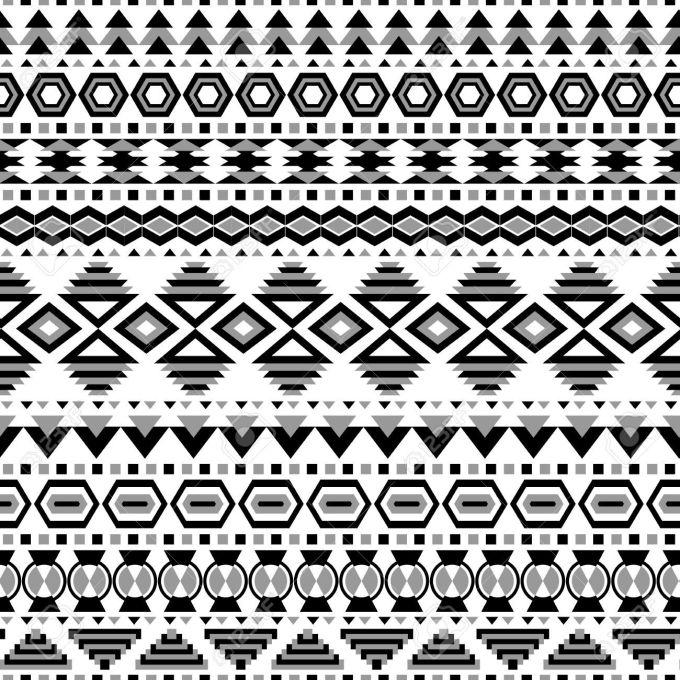 Tribal Print Wallpaper Black And White Buscar Con Google