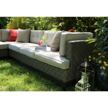 Ae Outdoor 4-piece Aluminum Cushioned Patio Sectional