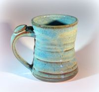 Large Pottery Coffee Mug, Handmade Stoneware Pottery ...