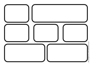 Editable black and white word wall bricks (SB8840