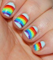 paint rainbow nails rainbows