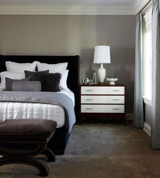 masculine bedrooms black bed Best 25+ Masculine bedding ideas on Pinterest | Masculine master bedroom, Dark bedroom walls and