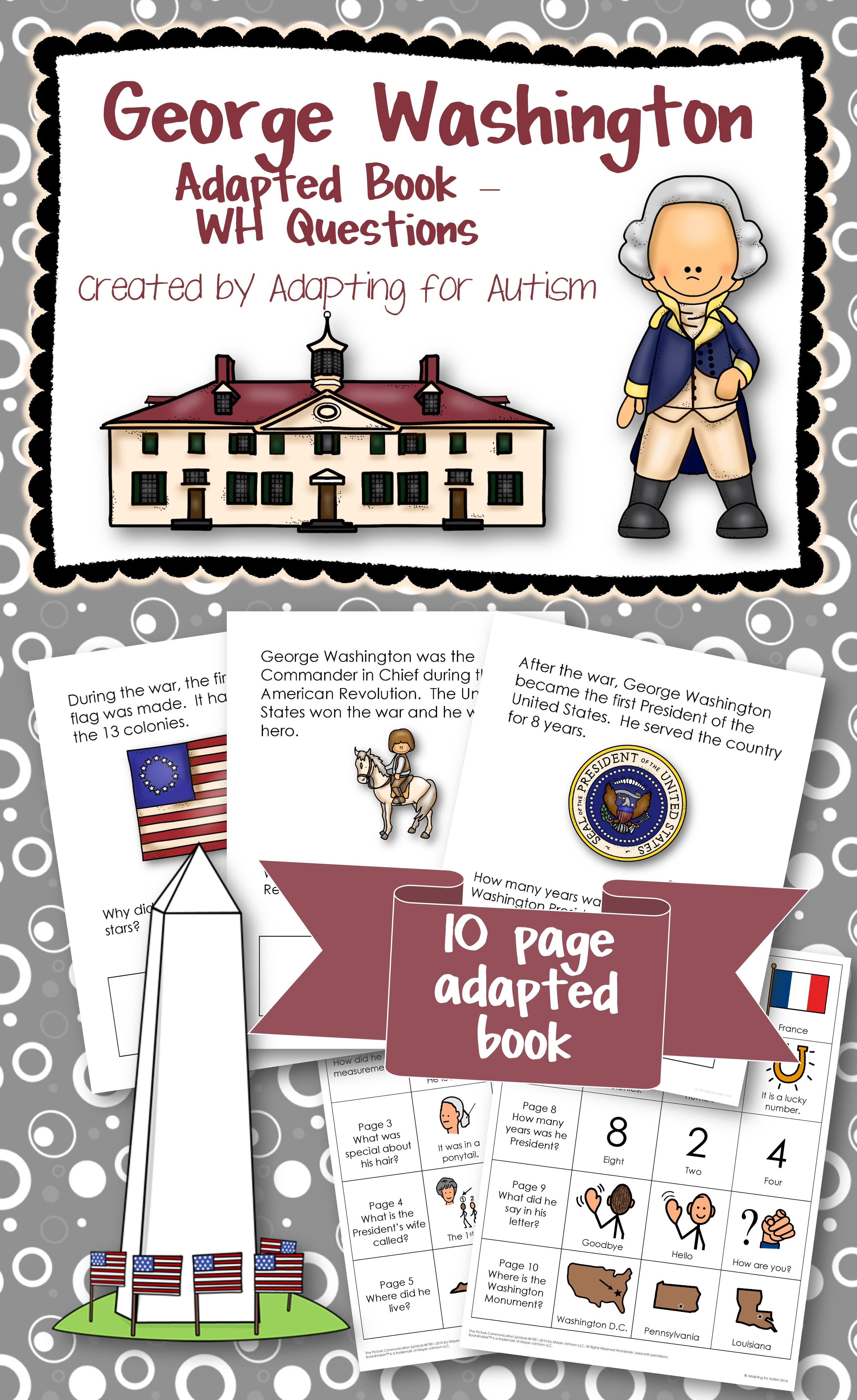George Washington Adapted Book With Comprehension