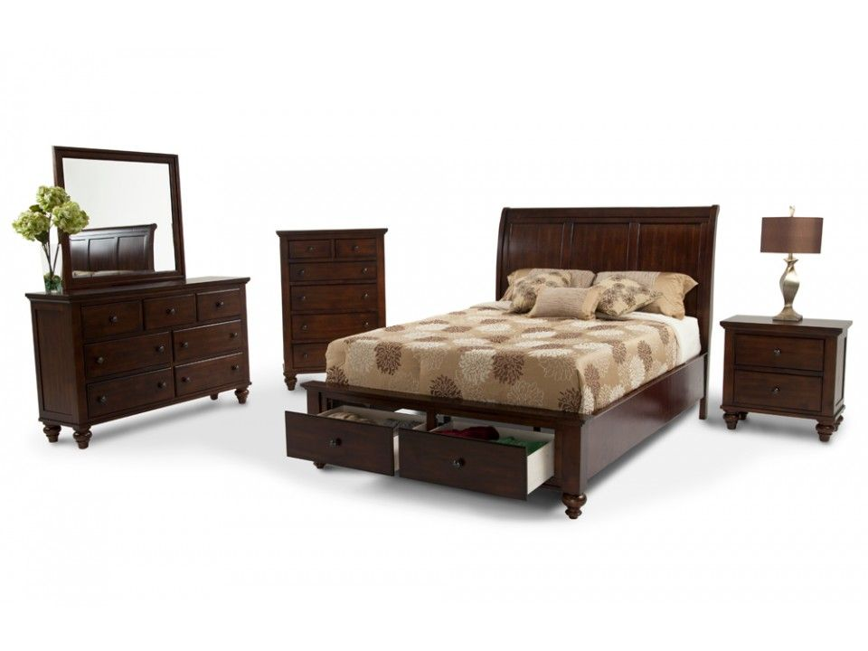 Chatham 8 Piece Queen Bedroom Set  Bobs Furniture and Bedroom sets